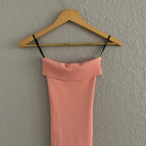 Bebe Pink Strapless Top